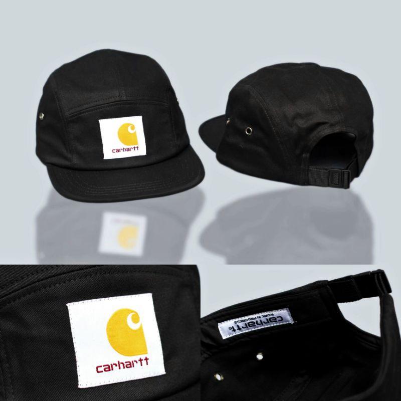 Topi 5 Panel Carhartt Wip Backley Black Cap High Quality