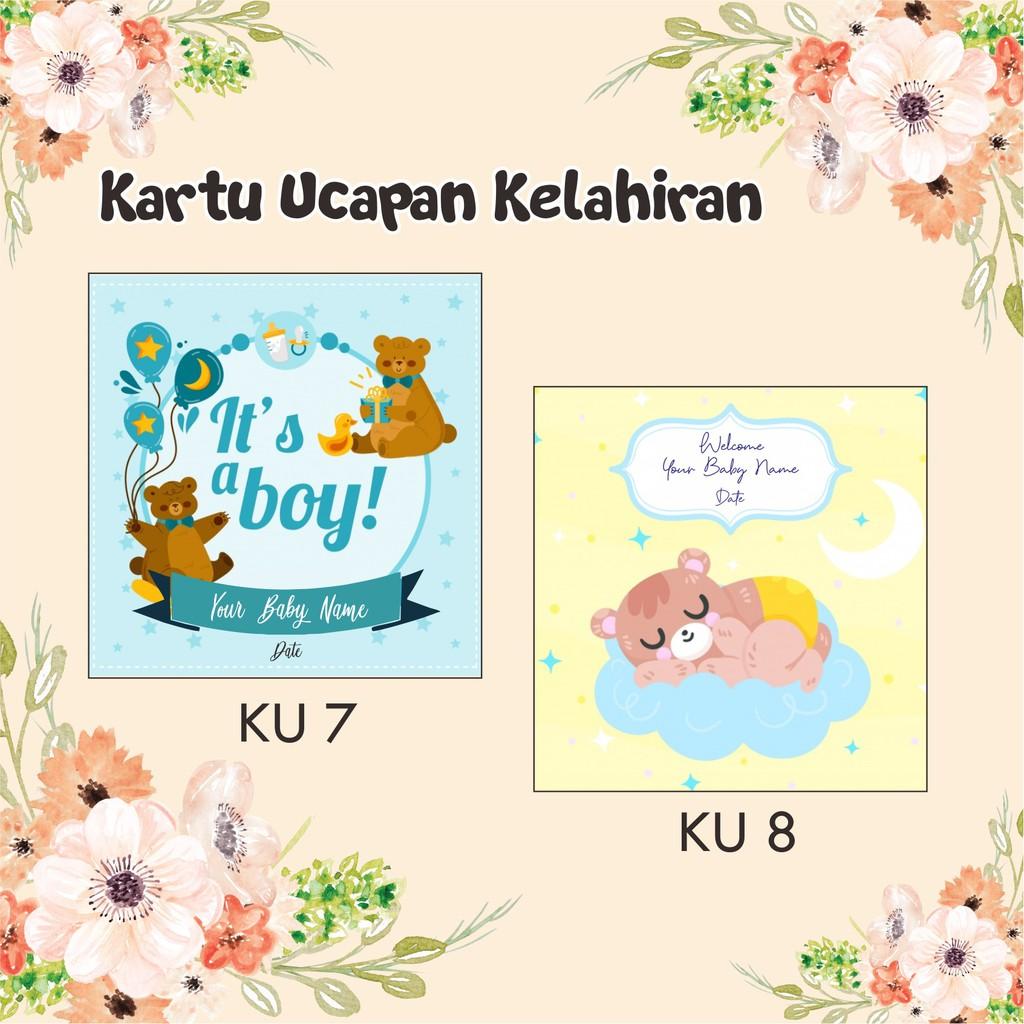 20 ide desain kartu ucapan kelahiran bayi online