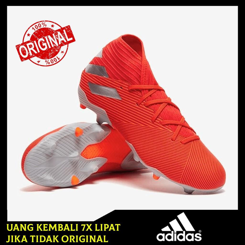 Sepatu Bola Adidas Nemeziz 19 3 Fg Active Red Silver Solar Red