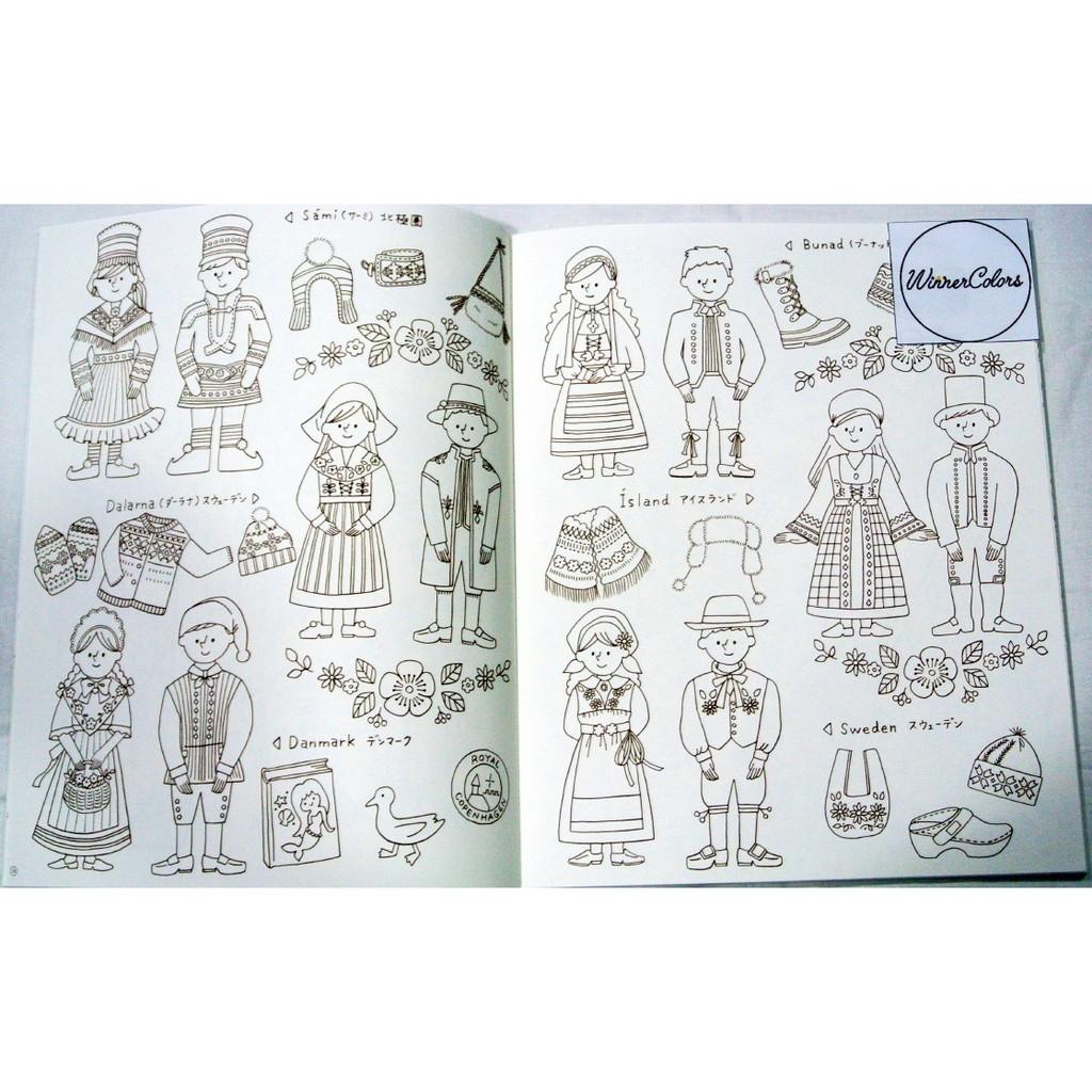 Travel To Nordic Atelier Naco Coloring Book Buku Mewarnai Dewasa