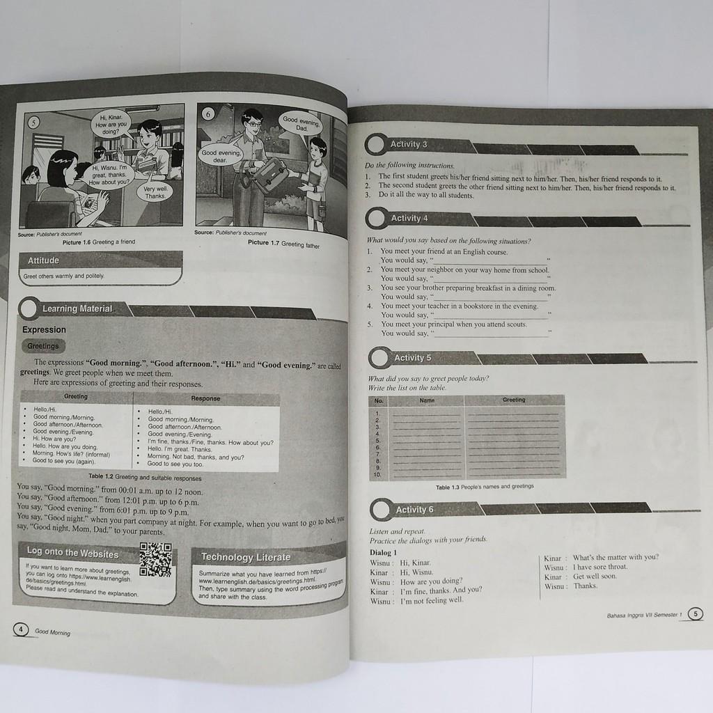 Buku Lks Bahasa Inggris Smp Kelas 7 Semester 1 K13 Intan Pariwara Shopee Indonesia