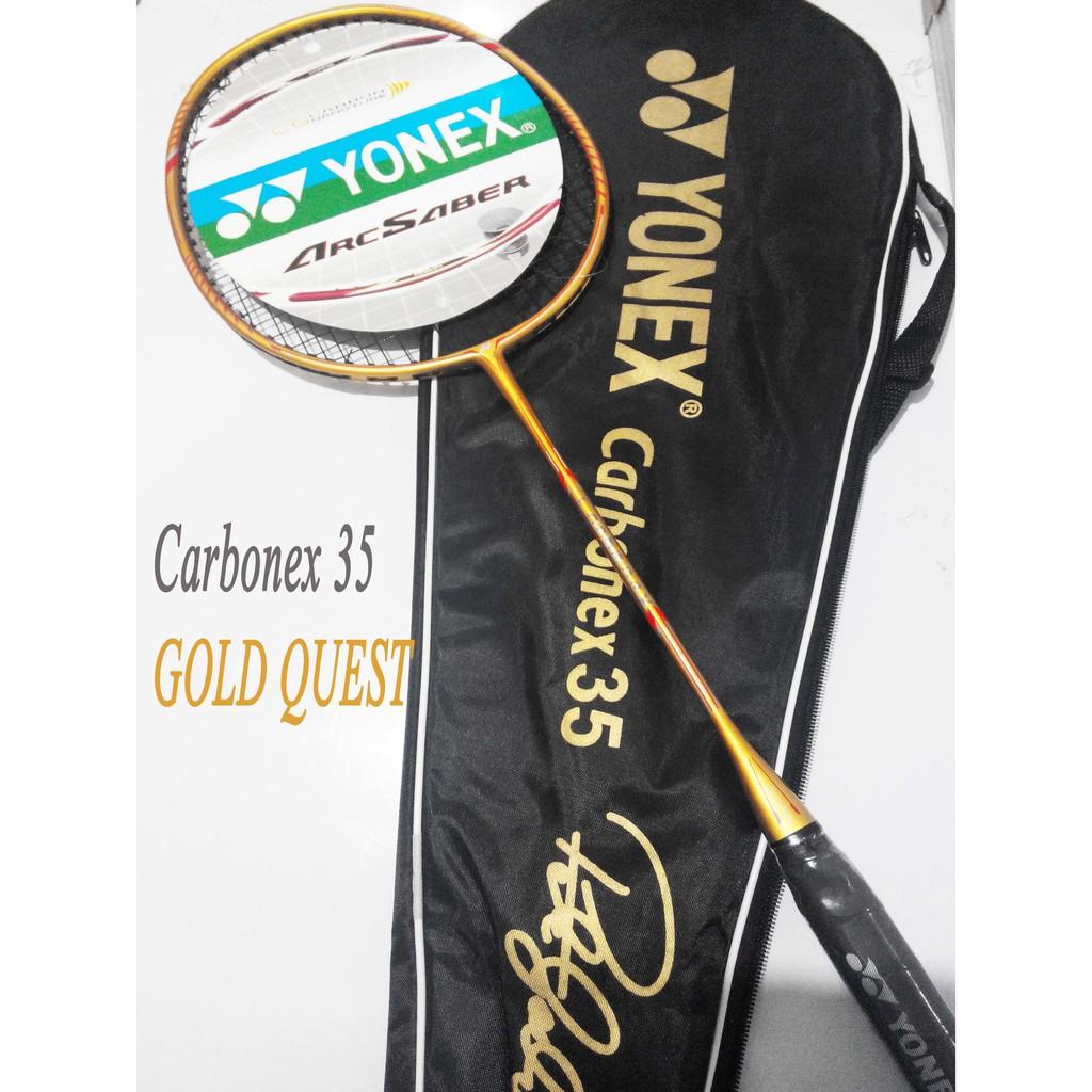 Raket Yonex Carbonex 35 Extended Gold Quest Edition Murah Berkelas