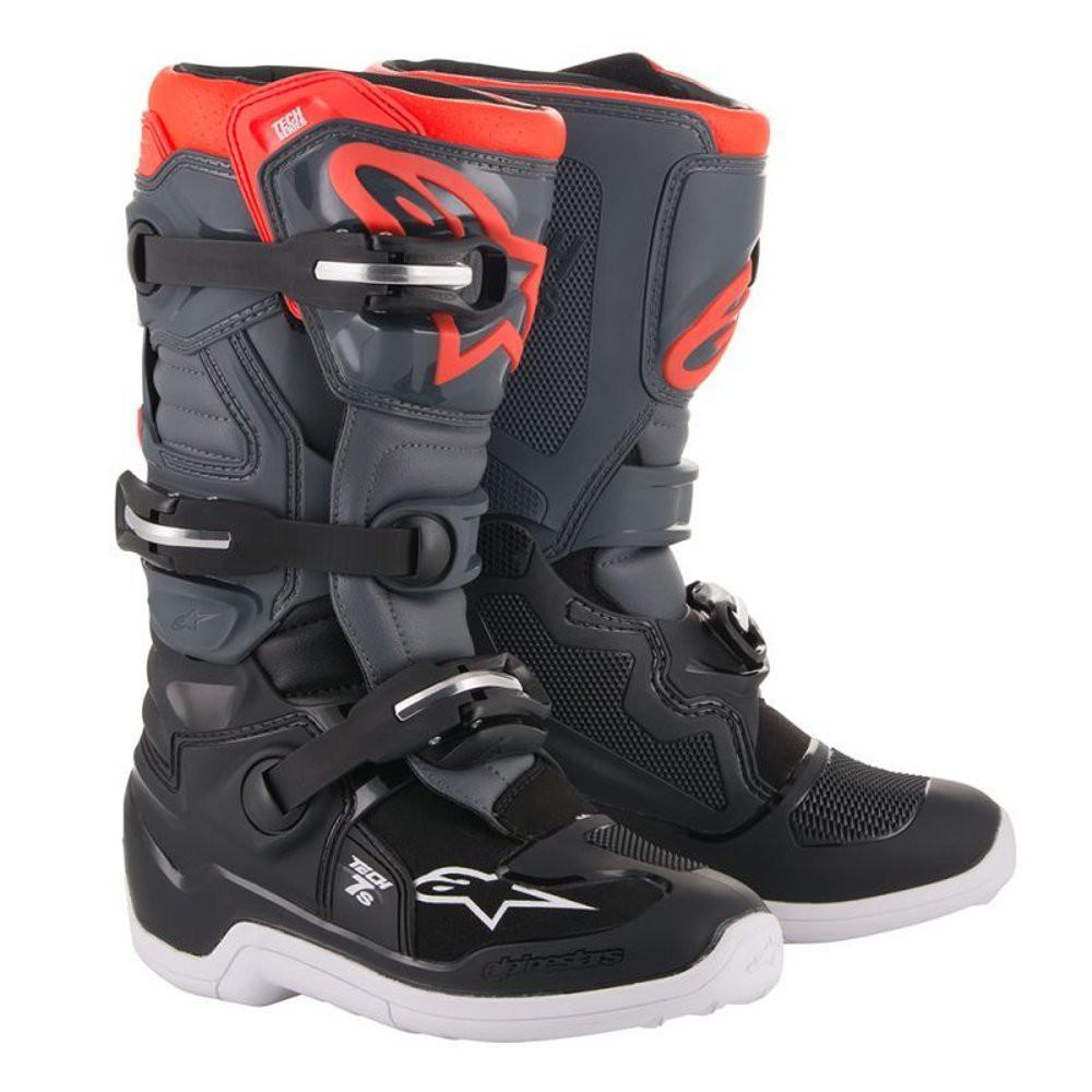 Sepatu Cross Anak Alpinestars 2019 Tech 7s Boots Black Dark Gray