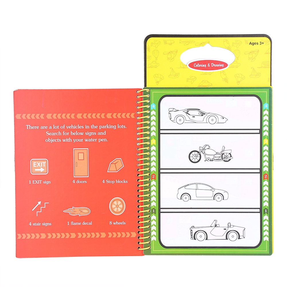 Buku Mewarnai Gambar Doodle Menggunakan Pen Air Dapat Digunakan Kembali Untuk Anak Belajar
