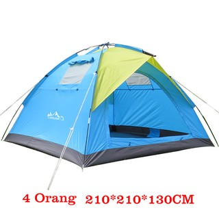 Techdoo Tenda Camping Kapasitas 4 Orang Kemping Gunung Camping Tent OG101