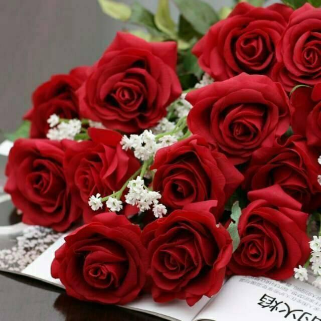 Bunga Mawar Merah Latex Shopee Indonesia