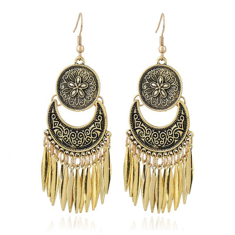LRC Anting Fashion Black Round Shape Decorated Color Matching Simple Earrings. Source · Anting Gantung