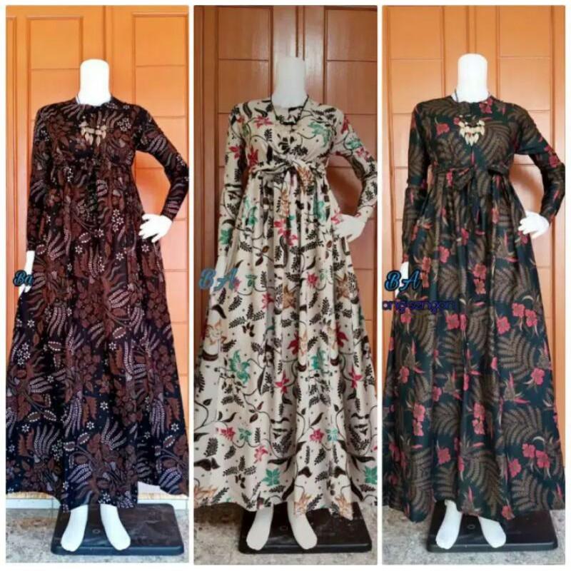 Harga Model Gamis Batik Kombinasi Terbaik Maret 2021 Shopee Indonesia