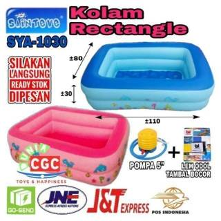 Kolam Renang Kotak Sainteve Rectangle Crystal Pool Mainan Edukasi Mandi Bola Sni