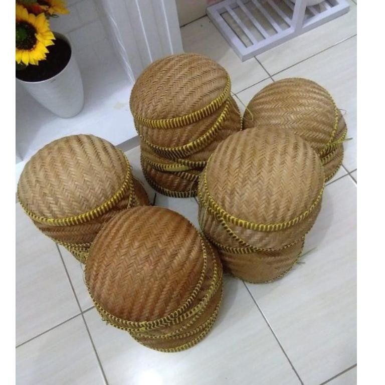 (SuP3R Seller CS 22Ma1Bq) Tempat Bawang/Wadah Bawang/kalo/besek/anyaman bambu ㊭