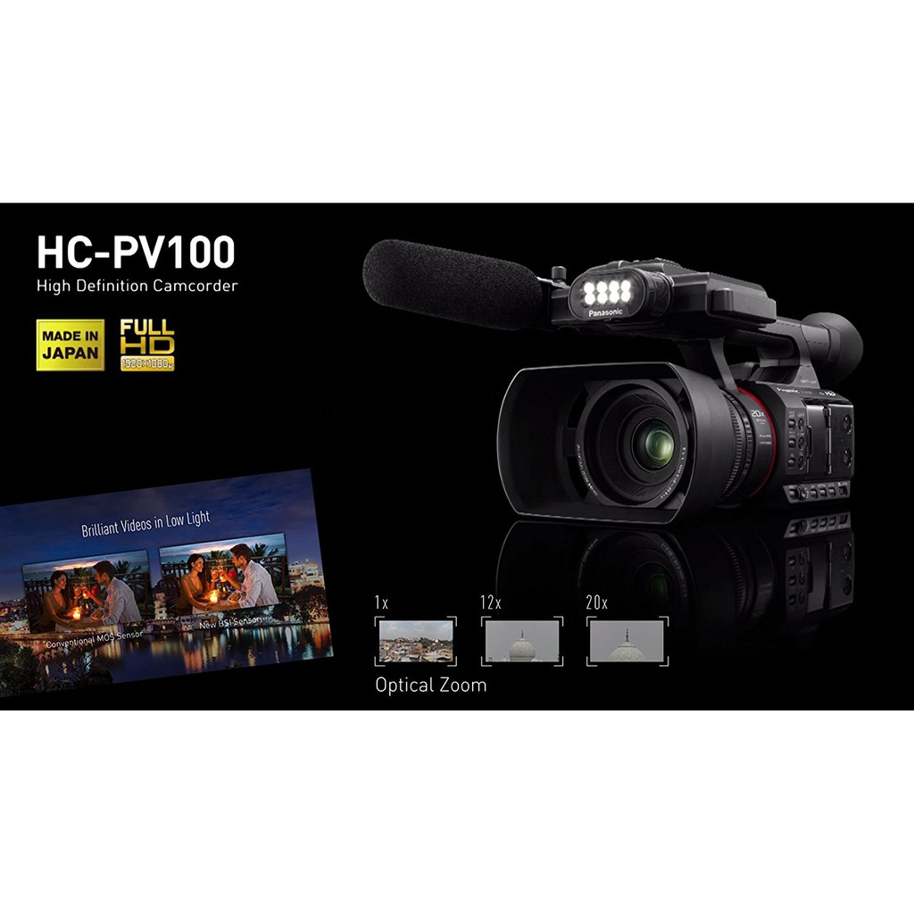 Panasonic Hc Pv100 Full Hd Promo Shopee Indonesia Gf9 Kit 12 32mm Pink 100 300mm F 4 56 Garansi Resmi