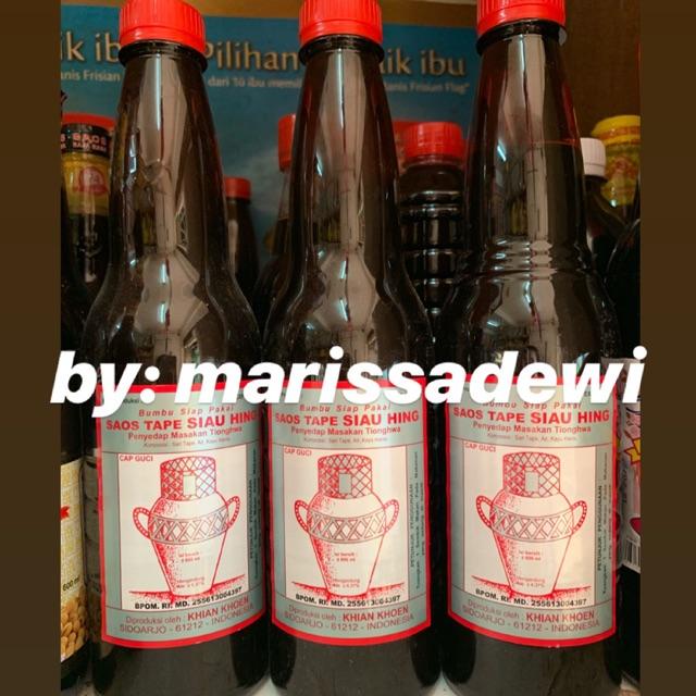 Termurah Arak Masak Gentong Saos Tape Siau Hing Angciu Ang Ciu 600ml Botol Plastik Shopee Indonesia