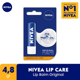 NIVEA Lip Balm Original Essential Care 4.8 gr thumbnail