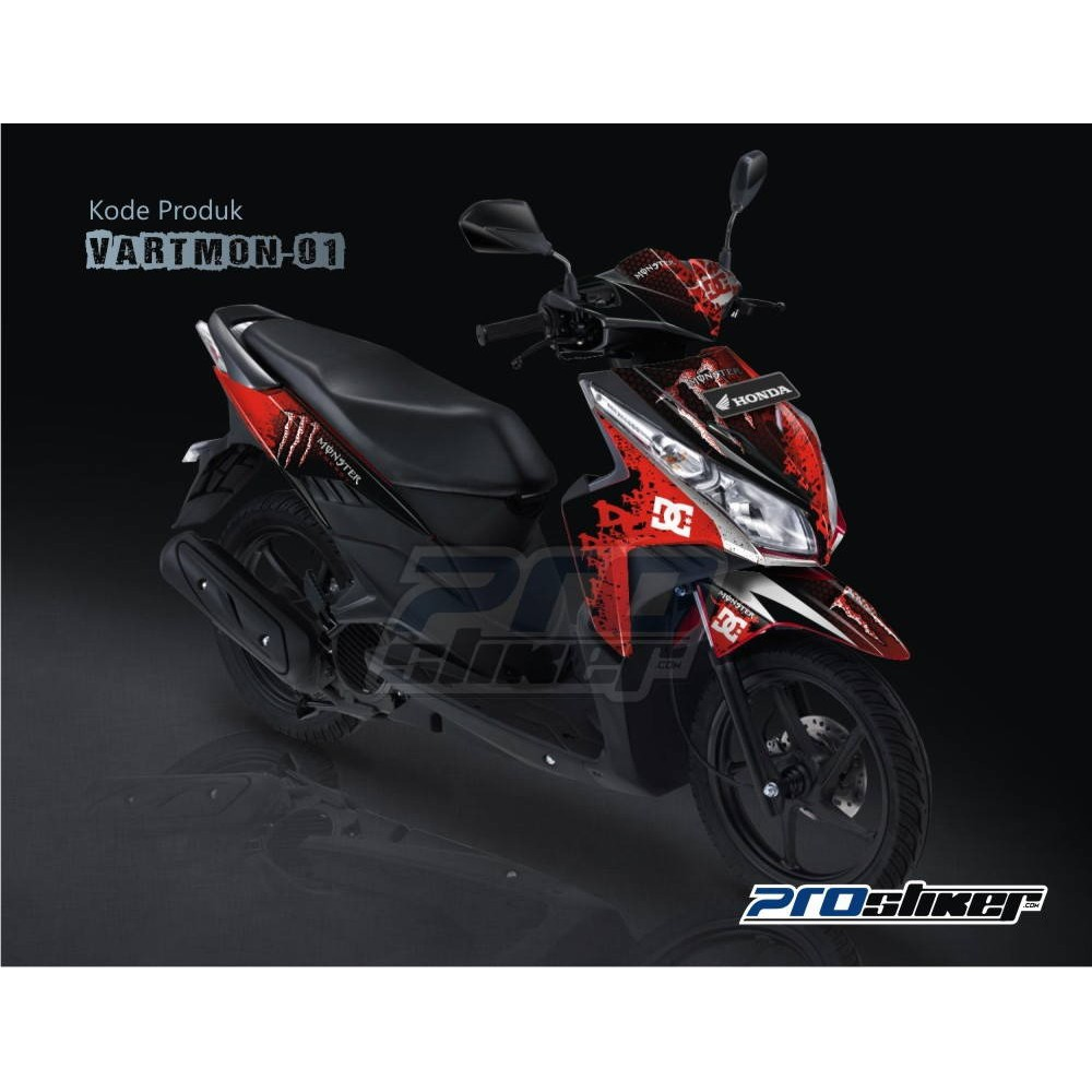 Striping motor vario techno 110cc gambar monster energy prostiker kualitas terbaik boleh diadu shopee indonesia