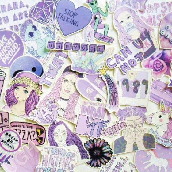 Spu Sticker Tumblr Purple Stiker Tumblr Ungu Shopee Indonesia