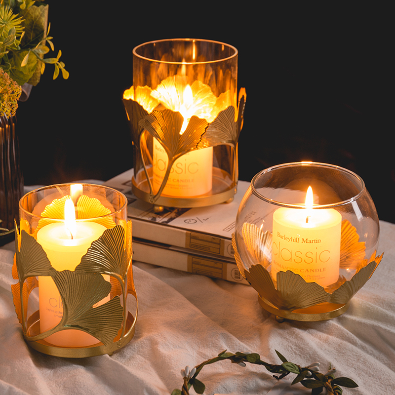 Nordic Light Luxury Dining Table Candle Holder Decoration Creative Candle Light Dinner Props Warm And Romantic Home Aroma Candle Holder Shopee Indonesia