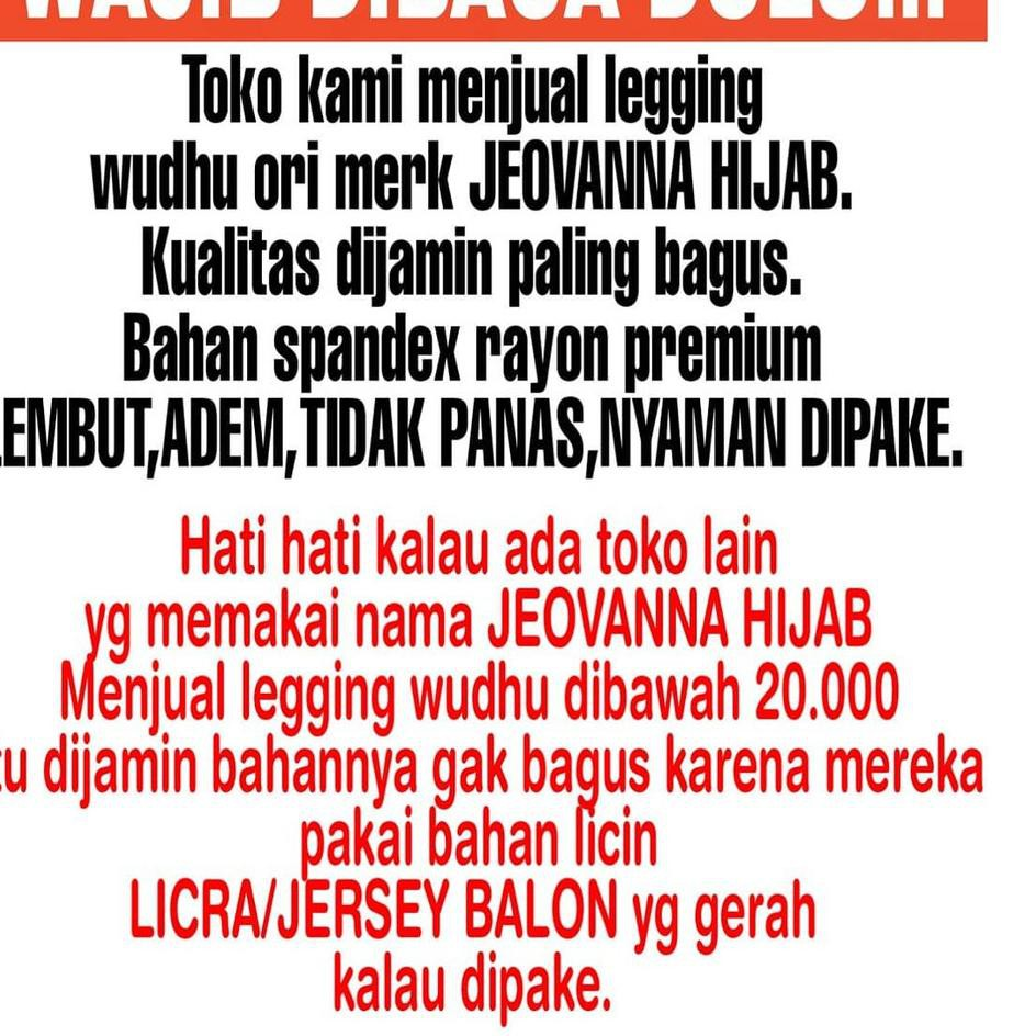 Ori Jeovanna Hijab Termurah Lejing Wudhu Legging Wudhu Leging Muslimah Promo Best Seller Shopee Indonesia
