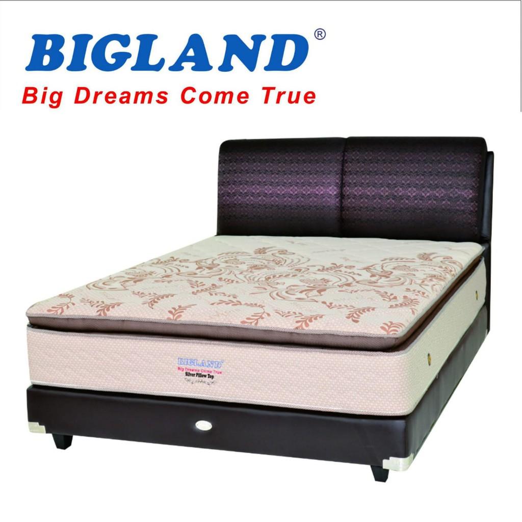 Springbed Bigland Reguler Uk160 X 200 Shopee Indonesia Kasur Uniland Paradise Box Magnolia 180x200 Tanpa Divan Sandaran