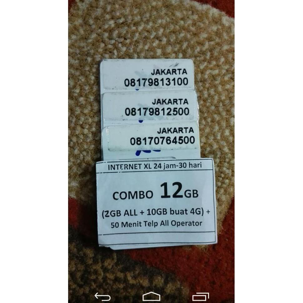 Jual Kartu Perdana XL Axiata Nomor Nomer Cantik Nocan seri 0819 11 757675 Jaringan Internet 4G
