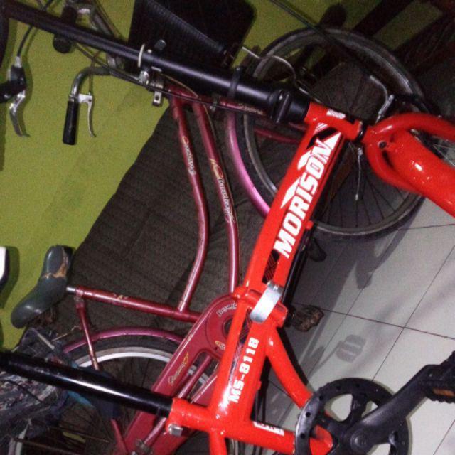 Sepeda Lipat Evergreen Folding Remaja-Dewasa 16 Inci Steel