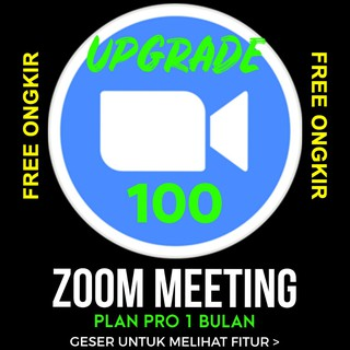 Zoom Meeting Plan Pro 100 Peserta 1 Bulan