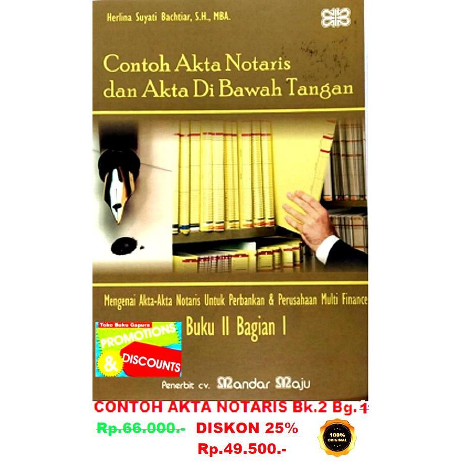 Contoh Akta Notaris Bk 2 Bag 1 Shopee Indonesia