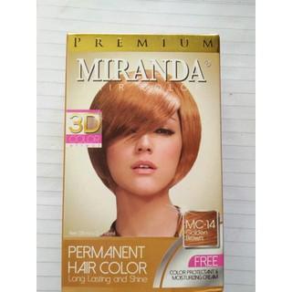 cat pewarna rambut coklat   Premium Miranda Hair Color Golden Brown 3D ( MC-14  ) 75ad0f8360