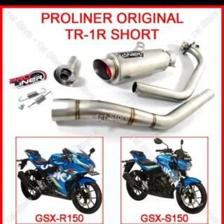 Knalpot Proliner TR1 R Gsx 150 R15 New R15 Lama Satria Fu Sonic Suara Top Komplit