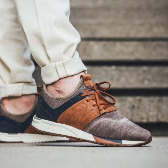 {Promo} New Balance MRL 247 Luxe Knit Pack Brown Navy Premium Original Quality For Men YukOrder