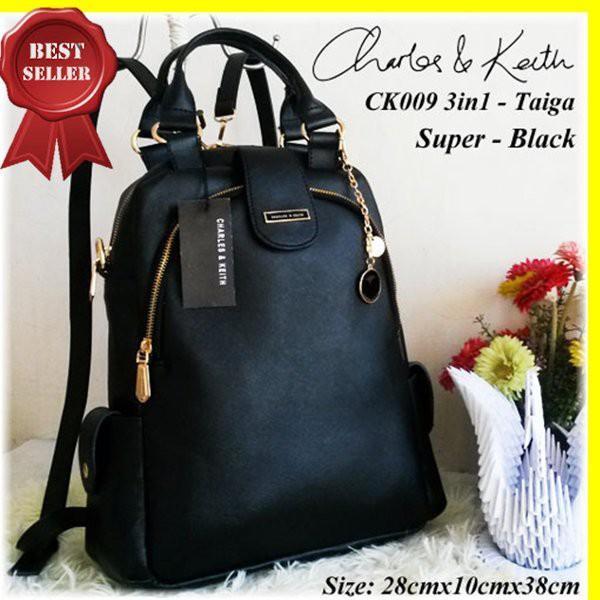 Tas Charles N Keith Ck009 3In1 Super Black I Tas Branded Import Murah Terbaru | Shopee