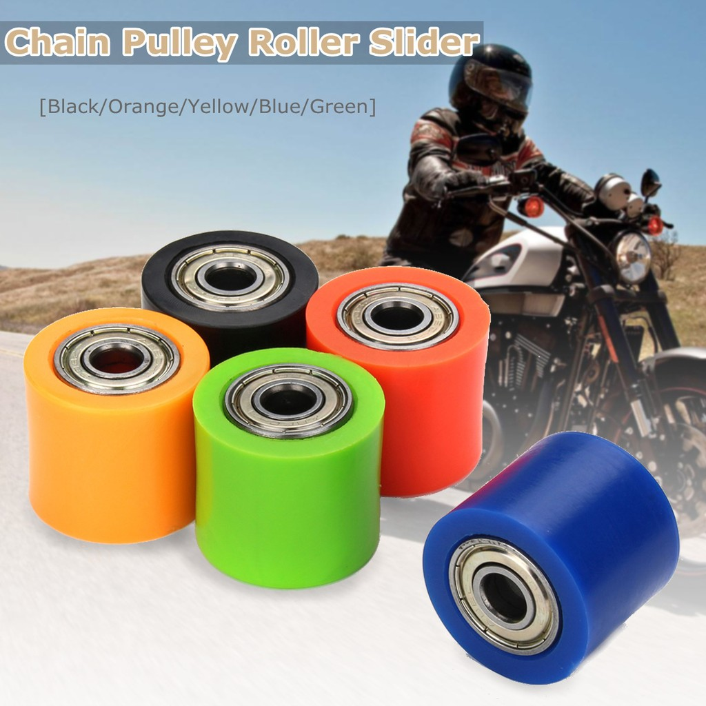 8mm//10mm Chain Roller Pulley Tensioner For Pit Dirt Mini Bike Colorful