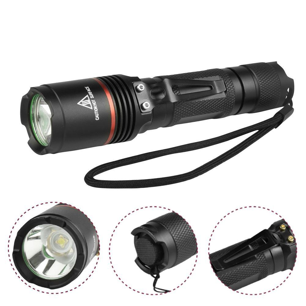 Bayar Di Tempat 8000lm Senter Dapat Zoom Fokus Cree Xm L T6 Led Lampu Flashlight Black Paket Hemat 18650 Shopee Indonesia