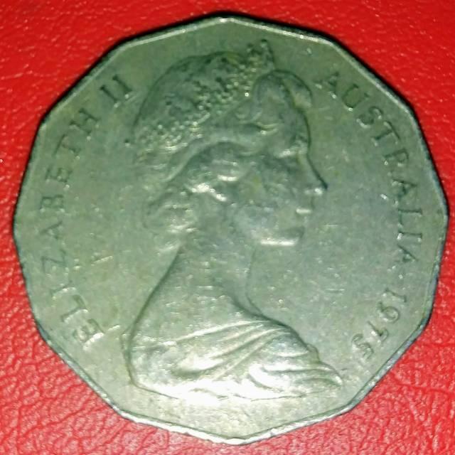 1971 Koin Australia 50 cents