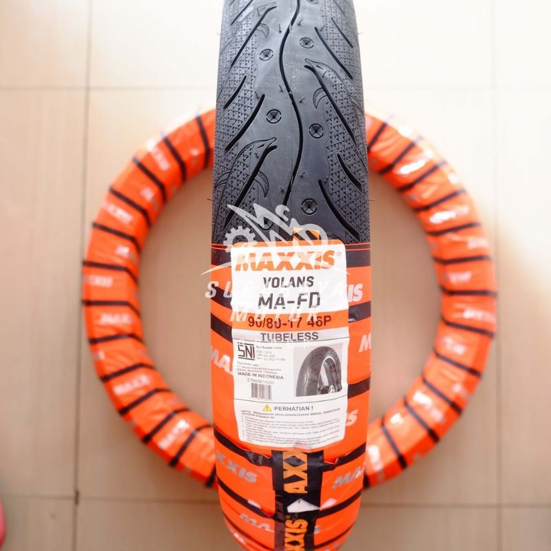 Ban Tubeless Maxxis 90/80-17 Volans MA-FD Soft Dual Compound