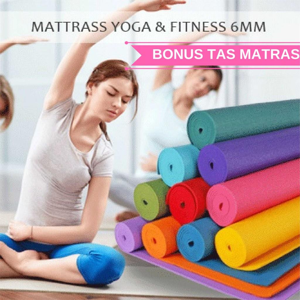 Jual Beli Produk Matras Gym Fitness Olahraga Outdoor Yoga 8mm Tpe Rubber Eco Mat Anti Slip Bag Limited Edition Shopee Indonesia