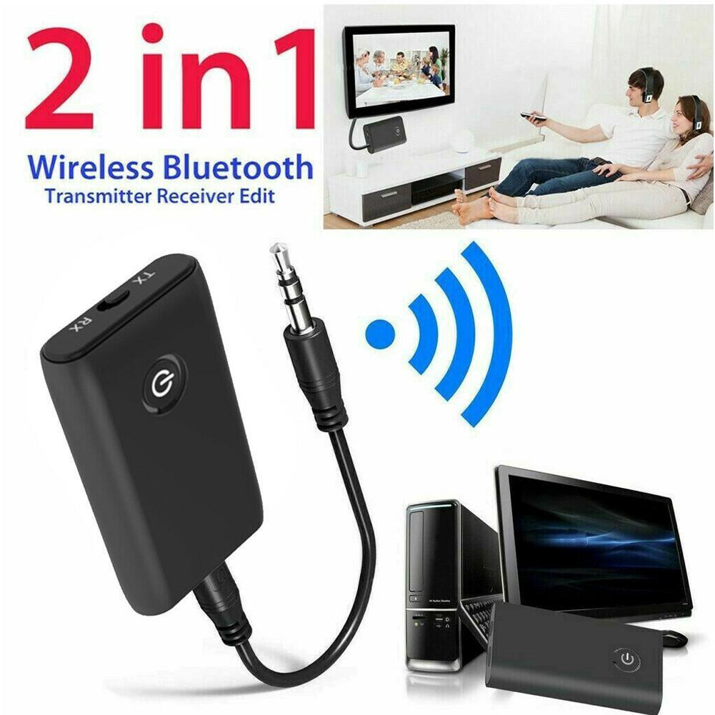 2In1 Wireless Bluetooth Transmitter Receiver 3.5MM RCA AUX Audio Adapter for TV