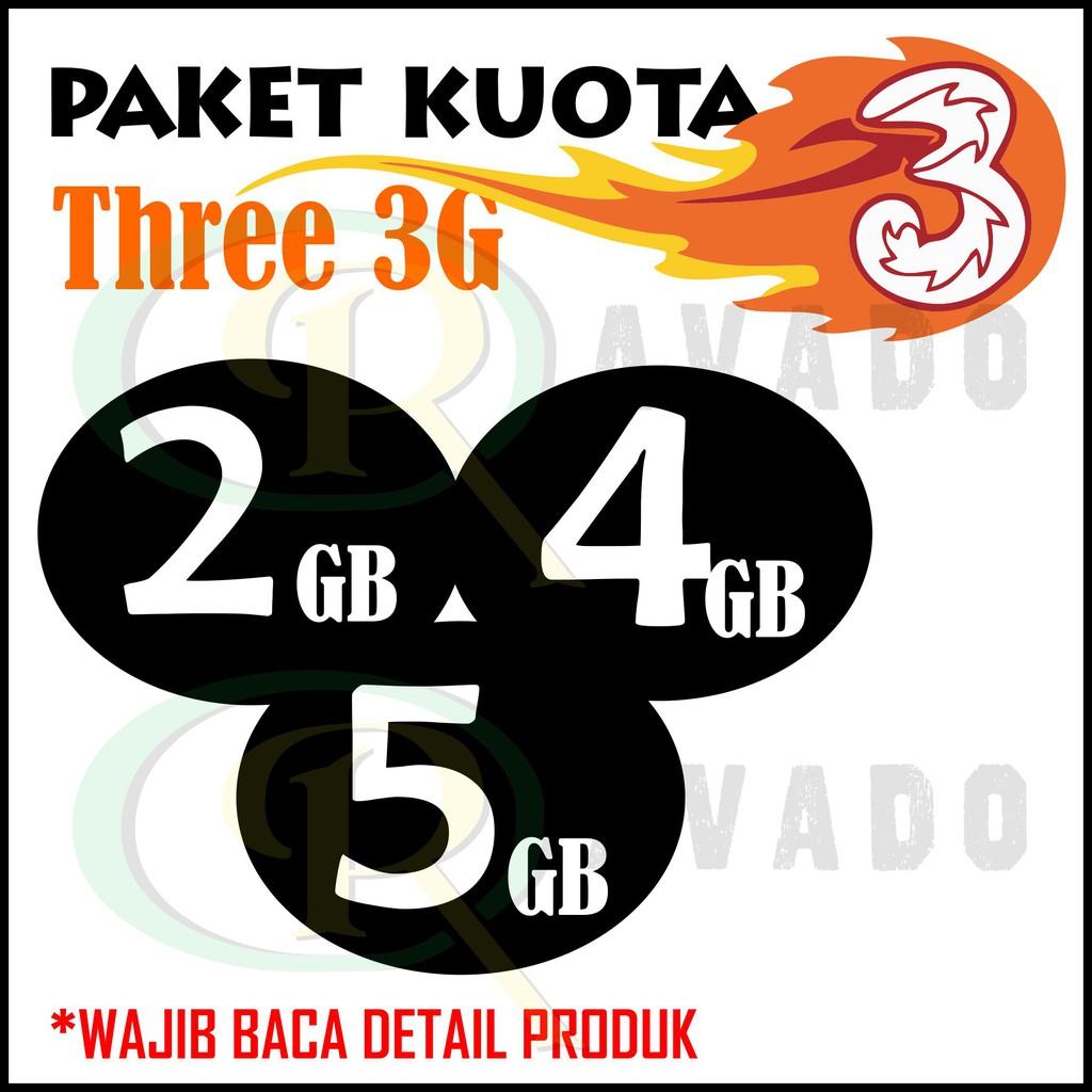 Paket Data Kuota Internet Murah Three Tri Semua Jaringan 3g 2gb 3gb Voucher Indomaret Seratus Ribu 100rb 5gb 24jam Shopee Indonesia