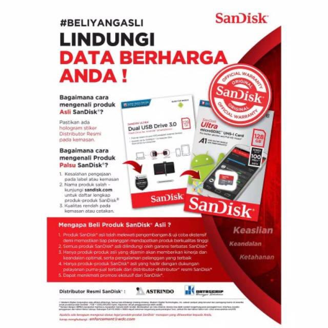 ... Flashdisk OTG Sandisk 32GB Dual Drive M3.0 Garansi Resmi 5 Tahun Original ...