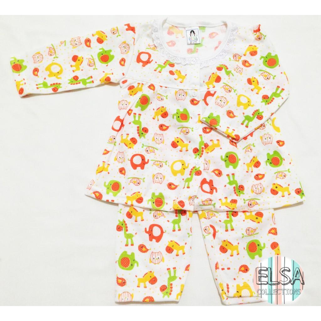 ... Piyama Bayi / Setelan Baju Tidur Panjang Anak Usia 3-12 Bulan Motif Little Ponny ...