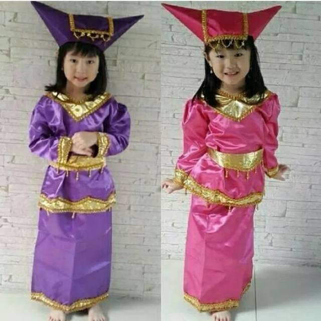 Baju Adat Daerah Sumatera Barat Padang Minang Anak Perempuan Shopee Indonesia