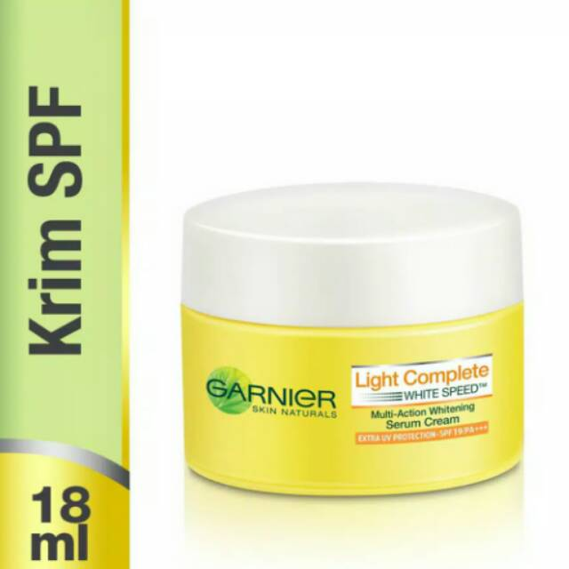 Garnier Light Complete White Speed Serum Cream Extra SPF19/PA+++ - 18 ml   Shopee Indonesia