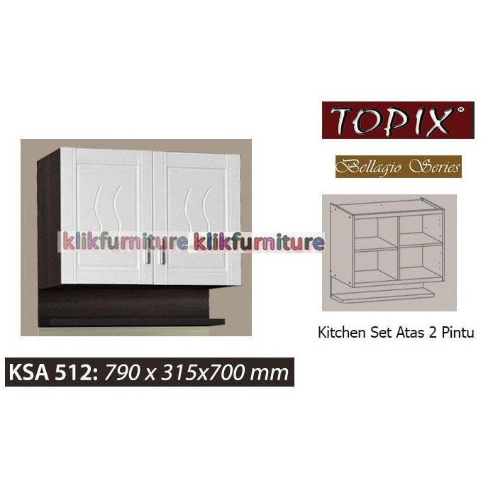 Ksa 512 Topix Kitchen Set Atas 2 Pintu Bellagio Shopee Indonesia