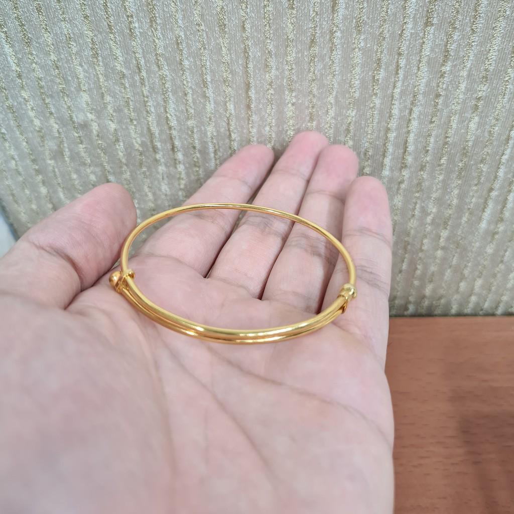 gelang polos dewasa 5 gram emas muda