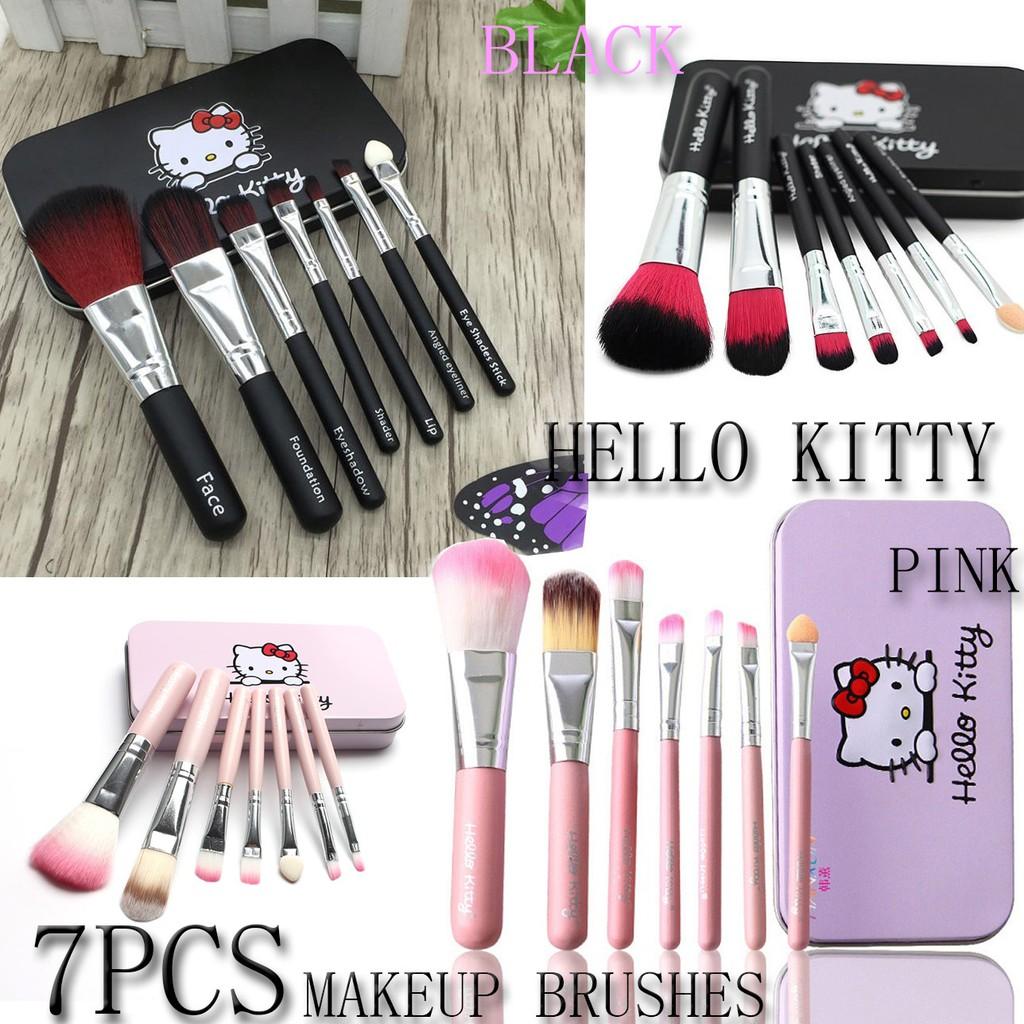 Up To 65 Discount From Brand Hello Kitty Brush Doraemon Kaleng 7 In 1 Make Kuas Isi 7pcs Set Black