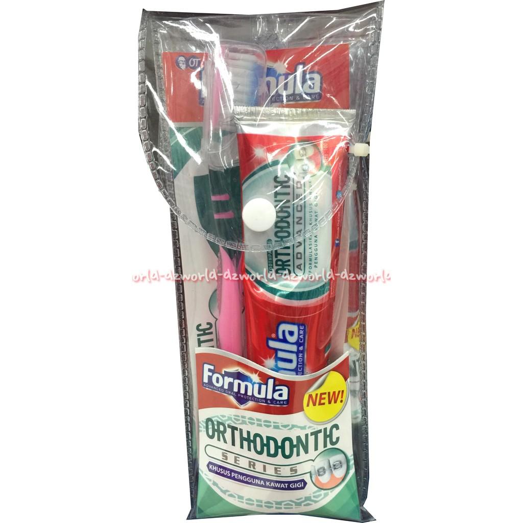 Formula Orthodontic Sikat Gigi Husus Untuk Pengguna Kawat Behel Sela Interdental Brush Toothbrush Shopee Indonesia