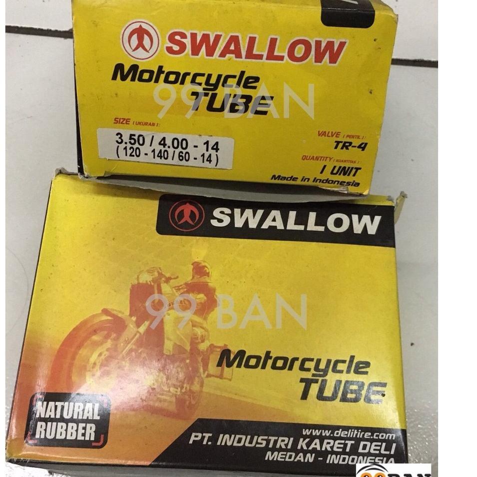 Terkini MERZW BAN DALAM SWALLOW 350/400-14 | 100/80-14 | 110/80-14, BAN DALAM MOTOR VELG 14 UKURAN B
