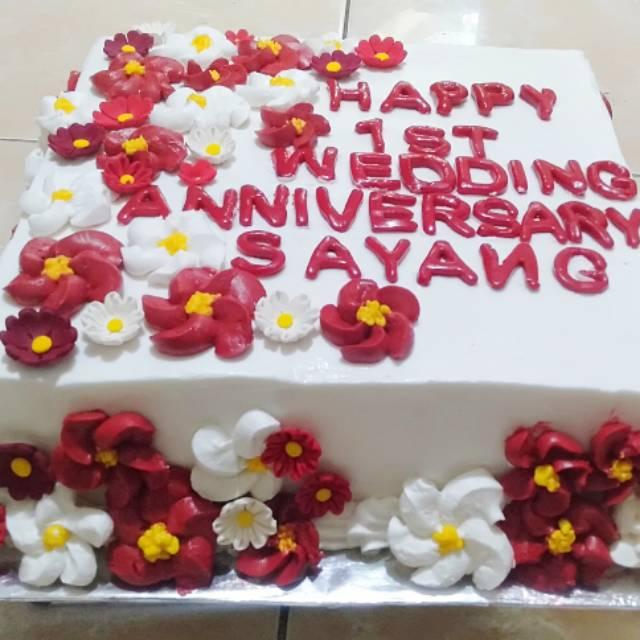 Kue Tart Anniversary Bentuk Kotak Shopee Indonesia
