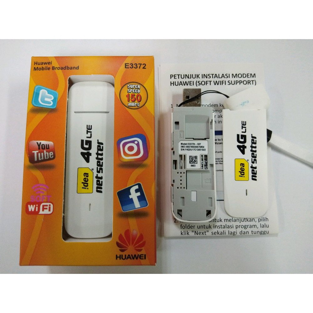 Modem Mifi Wifi 4g Lte Alcatel Mw40 Unlock Support 850mhz 1800mhz Huawei E5575 Free Telkomsel 14gb 2 Bulan Shopee Indonesia