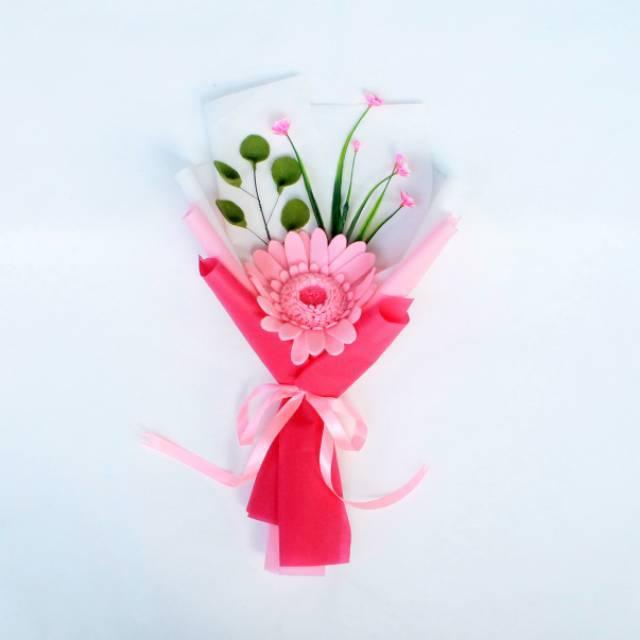 Buket Bunga Mini Gerberra Buket Bunga Flanel Murah Buket Bunga