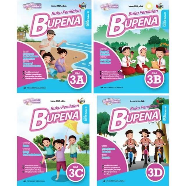 Bupena 3a 3b 3c 3d Sd Kelas 3 Kurikulum 2013 Revisi Erlangga Irene Shopee Indonesia